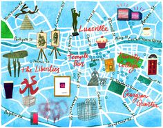 Illustrated Dublin, guide to Dublin, things to do, travel Europe, map