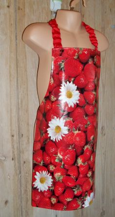 Lovely strawberry pattern PVC apron - 2-5 yrs is for sale in iHubbub's online shop. I could do with one of these fun aprons. My #homeworking clothes are normally spattered doing dinner :) http://ihubbub.com/istore/wonky-cottage/lovely-strawberry-pattern-pvc-apron-2-5-yrs
