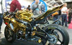 Gold Chrome #Bike http://www.chromefactorylv.com/services/