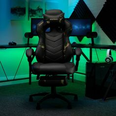 Respawn 110 Racing Style Reclining Gaming Chair with Footrest - On Sale - Overstock - 22848763 - Black Gaming Furniture, Gaming Chair, Rolling Office Chair, Seat Covers For Chairs, Support Pillows, Chair Types, Ergonomic Chair, Sit Back And Relax, Footrest