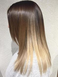 Brown Blonde Ombre Balayage For Straight Hair