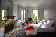 (Credit: Sawdays) Special Places To Stay In Rural France: 10. L'Hotel Particulier, Bordeaux, Gironde (This classic baroque 19th-century townhouse is hidden away off a bustling street: with its quiet lawned quadrangle, opulent boudoirs and ornate fireplaces and Philip Stark bathrooms, it promises to provide a welcome retreat from the buzzing Bordeaux atmosphere when you need to relax. From 160 Euros per room per night, room only. Visit sawdays.co.uk or call + 33 (0)5 57 88 28 80.)