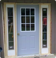 Replacing a door and adding side windows. {This is what I want to do with both my front and rear entries.}