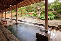 観松館 潮見温泉 山形県 露天風呂