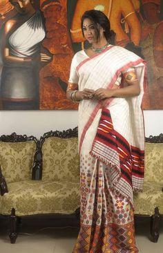 Sampa Das - Revivalist of the Golden Muga silk of Assam Indian Blouse, Indian Sarees, Traditional Sarees, Traditional Dresses, Assam Silk Saree, Mekhela Chador, Formal Suits For Women, Golden Saree, Saree Jewellery