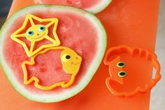 Cute Watermelon Shapes   Kids Stuff World (what a super idea) and cherry berry smoothies