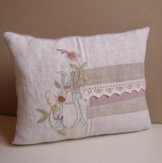 Monogram cushion   Flickr - Photo Sharing!