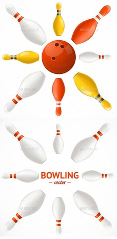 Bowling Pins Set Card or Poster