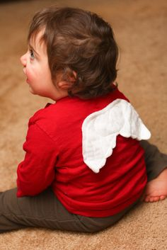 Boys Valentine's Day Shirt - Cupid's Wings - Red Long Sleeve Short Sleeve T shirt. 25.00, via Etsy.