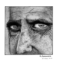 Old Man, in pencil on paper. Gregg Hierholzer, gregghierholzer@gmail.com
