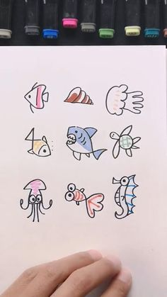 Small Easy Drawings, Drawing Images For Kids, Easy Doodles Drawings, Simple Doodles, Art Drawings Sketches Simple, Easy Drawing Pictures, Pencil Drawings, Hand Art Kids, Art For Kids