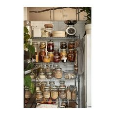 IKEA - OMAR, 1 section shelving unit, Easy to assemble – no tools required. Also stands steady on an uneven floor since the feet can be adjusted. Kitchen Shelves, Kitchen Pantry, Kitchen Layout, Kitchen Design, Kitchen Racks, Open Pantry, Basement Kitchen, Kitchen Tips, Kitchen Storage