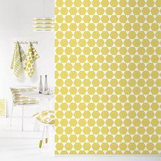 Roomblush behang wallpaper stars yellow behangpapier woonkamer slaapkamer kinderkamer interieur design muurdecoratie