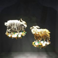 Two goats on green by Van Cleef and Arpels