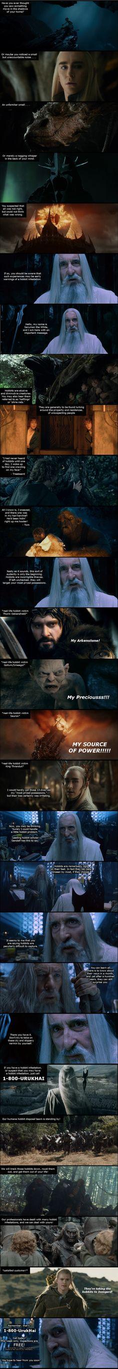 Hobbit Infestation Infomercial by ttanner2448 on DeviantArt <--- This is hilarious!!