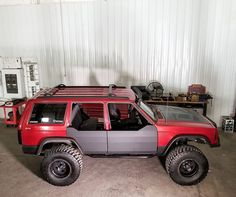 XJ Half Doors are now available on our website check out the install video to see what is invloved. #FramelessAndShameless #BuiltForWhatever #JeepCherokee #JeepXJ