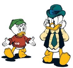 Young Scrooge McDuck and his father, Fergus McDuck by Don Rosa