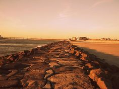 Sunset at Jetty Beach in Brigantine, NJ