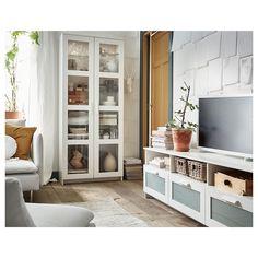BRIMNES Vitrina, blanco, 80x190 cm - IKEA