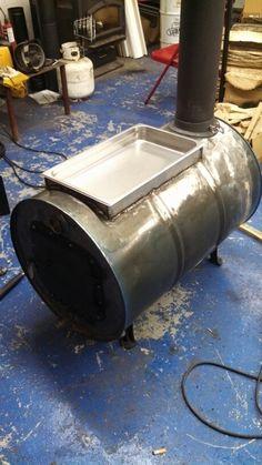 Barrel stove evaporator