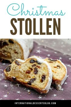German Christmas Stollen bread is my favorite traditional holiday pastry! Buttery, tender, you can make it with or without raisins or marzipan. It's so not fruitcake! You've got to try this easy recipe for the holidays! German Bread, German Baking, German Cake, British Baking, German Christmas Stollen Recipe, Christmas Bread, Christmas Cooking, Christmas Foods, German Christmas Traditions