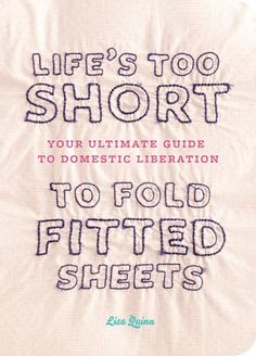 Life IS too short to fold fitted sheets!!!  Besides... a crisply folded flat sheet is much nicer :)