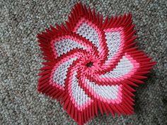 Origami Spiral Flower Bowl - https://www.etsy.com/listing/251184139/3d-origami-spiral-flower-bowl