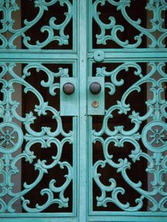 I am in love with this gate!!! blue, door, inspiration, new orleans, new orleans inspiration, photo