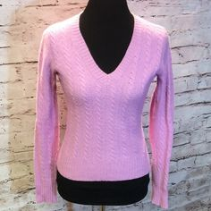 THE LIMITED PINK SWEATER This is a gorgeous color of pink and very soft. Gently used. See pic for length The Limited Sweaters V-Necks