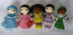 Crochet Amigurumi Ideas This little doll is about 11 cm tall. The original pattern is a hijab girl but can be modification to be a girl without hijab. Crochet Kids Scarf, Crochet Doll Dress, Crochet Doll Clothes, Crochet For Kids, Crochet Amigurumi Free Patterns, Crochet Doll Pattern, Free Crochet, Learn Crochet, Knit Crochet