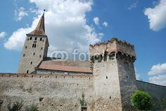 Exterior walls of a saxon fortified church in Transylvania, Romania