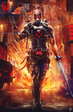 X-Force Deadpool - fan art by wizyakuza (Ceasar Ian Muyuela)More selected art by…