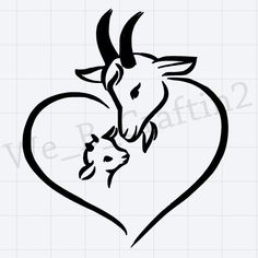 Windows Phone Decal, Goat Decal, Mama Goat With Baby Decal, Mama Goat w/ Baby