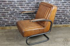 vintage look leather armchair