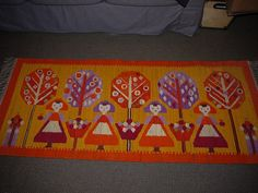 Amazing Tapestry  Wall hanging  Wool Rug  Poland  by ShabbyRough