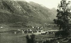 Sogn og Fjordane fylke Stryn kommune Olden utsikt over bygda brukt 1920