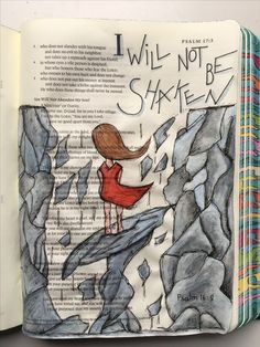 August 16 - God Is On the Move - Psalm :: ESV Journaling Bible with Caran d'Ache Museum pencils and Micron Pens. Bible Journaling For Beginners, Bible Study Journal, Scripture Study, Bible Art, Bible Drawing, Bible Doodling, Bible Prayers, Bible Scriptures, Esv Bible