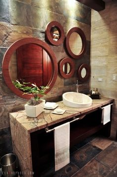 A tropical bathroom provides a spa-like experience and to create such an interior in your bathroom you needn't much. Description from digsdigs.com. I searched for this on bing.com/images