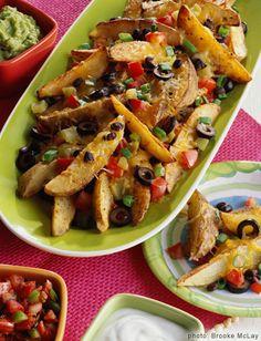 Potato Wedge Nachos...looks good