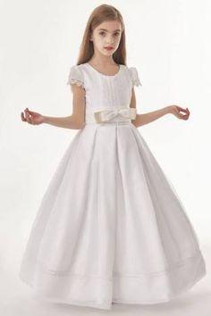 1e74917f9d463 Image result for ball gown first communion dress Girls Dresses, Flower Girl  Dresses, Holy