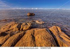 View from the limestone coast of the Baltic Sea in Estonia. The Gulf of Finland. Shutterstock contributor.