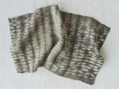 tea and iron shibori dyed silk | Liz Spencer
