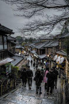 Japan Kyoto . 日本.京都 雨中二年坂 HDR DSC_5284 by Ming - chun ( very busy ) on Flickr. #Japan