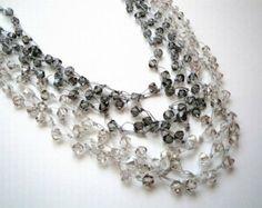 Etsy - Swarowski web necklace from FatimasArtStudio