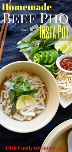 Looking for a great Instant Pot Meal? This recipe for Beef Pho is a definite crowd pleaser. The fragrant broth will really make your taste buds sing and get the family running to the dinner table. Instead of spending all day in the kitchen created this delicious noodle soup, you can go out and have a little family adventure while your Instant Pot does almost ALL the work!