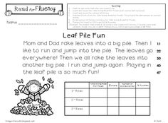 Fall Fluency Fun - Guided Reading