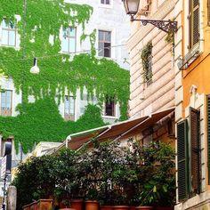 A green scene in Romes Monti neighborhood