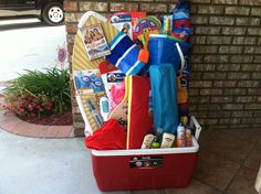 Beach Themed Auction Basket | OxfordPreparatoryAcademy