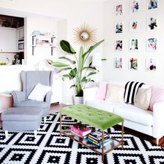 Apartment Decorating with Indoor Birds of Paradise. Perfect indoor plant for non-green thumbs