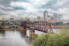 Shreveport, Louisiana from across the Red River